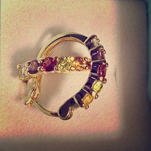 Vermeil 14K/Sterling Multi-gemstone Earrings!